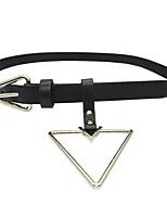 cheap -Women's Vintage Casual Leather Alloy Waist Belt