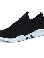 Недорогие -Муж. обувь Резина Весна Осень Удобная обувь Кеды для на открытом воздухе Белый Черный Серый
