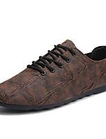 baratos -Homens sapatos Materiais Customizados Primavera Outono Conforto Mocassins e Slip-Ons para Casual Preto Marron
