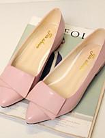 Недорогие -Для женщин Обувь Полиуретан Весна Осень Удобная обувь Обувь на каблуках На толстом каблуке Заостренный носок Закрытый мыс для Повседневные
