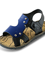 cheap -Boys' Shoes PU Spring Summer Comfort Sandals for Casual Blue Brown