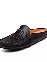 cheap -Men's Shoes Synthetic Microfiber PU Spring Fall Comfort Loafers & Slip-Ons for Casual Dark Blue Black White