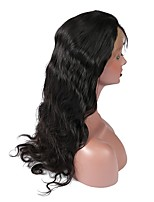 cheap -Human Hair Lace Front Wig Wig Mongolian Hair Body Wave With Baby Hair 120% Density Natural Hairline Women's Short / Medium Length / Long Human Hair Lace Wig