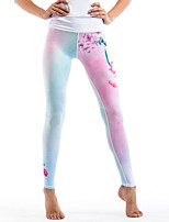 cheap -Women's Stylish Polyester Medium Stitching Print Legging,Print White