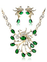 cheap -Women's Jewelry Set Bridal Jewelry Sets Bohemian Fashion Wedding Ceremony Gold Plated 1 Necklace Earrings