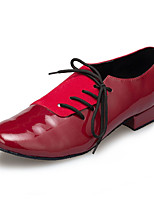 cheap -Men's Latin Leather Sneaker Training Trim Low Heel Red Black Customizable