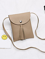 cheap -Women Bags PU Shoulder Bag Tassel for Outdoor All Season Light Gray Coffee Almond Blushing Pink Black