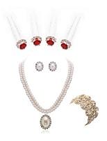 economico -Per donna Bracciali a catena e maglie I monili nuziali Strass Europeo Di tendenza Matrimonio Feste Perle finte Diamanti d'imitazione Lega