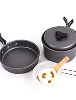 preiswerte -Camping-Kochtop Kochutensilien für den Outdoor Gourmet tragbar Edelstahl Metallisch für Camping