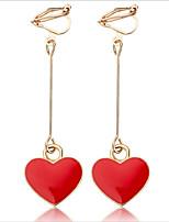 Недорогие -Жен. Серьги-кольца Клипсы , европейский Мода Серебрянное покрытие Легированной стали Геометрической формы Бижутерия Повседневные Офис и