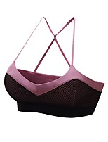 cheap -Women's Light Support Sports Bras Stretchy Sports Bra for Running/Jogging Polyester Dark Grey Purple L M S XS