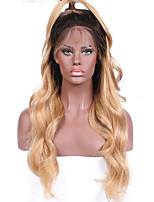 cheap -New Ombre T1B/27 Brazilian Human Hair Natural Wave Lace Front Wig Human Hair  Natural Hair Full Lace Wigs For Woman With Baby Hair On Sale