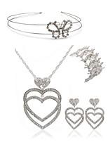 cheap -Women's Headwear Bridal Jewelry Sets Rhinestone Fashion European Wedding Party Imitation Diamond Alloy Heart Butterfly Body Jewelry 1