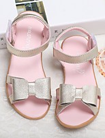 cheap -Girls' Shoes Real Leather Spring Fall Comfort Flower Girl Shoes Sandals for Casual Gold White Pink