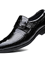 cheap -Men's Shoes Patent Leather Spring Fall Comfort Formal Shoes Oxfords for Casual Party & Evening Black