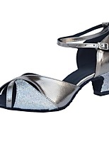 cheap -Latin Leatherette Sandal Customized Heel Gray Customizable