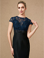 cheap -Short Sleeves Lace Wedding Party / Evening Women's Wrap With Buttons Lace Shrugs