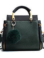Women Bags PU Polyester Tote Zipper for Casual All Season Brown Black Green