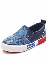 cheap -Boys' Girls' Shoes PU Spring Fall Comfort Loafers & Slip-Ons for Casual Blue Silver