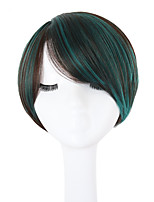 cheap -Synthetic Hair Wigs Straight Side Part Natural Hairline Layered Haircut Pixie Cut With Bangs Halloween Wig Celebrity Wig Party Wig Lolita