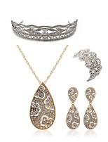 preiswerte -Damen Tiara Braut-Schmuck-Sets Strass Diamantimitate Aleación Geometrische Form Tropfen Modisch Europäisch Hochzeit Party Körperschmuck 1