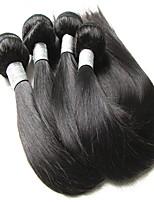 Недорогие -2018 новый год продажа 9а бразильские виргинские волосы шелк прямые 4 пачки 400 г много очень мягкие и гладкие текстуры натуральные