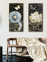 Недорогие -Холст для печати Деревня Modern,2 панели Холст Вертикальная С картинкой Декор стены Украшение дома