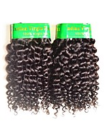 cheap -10a indian kinky curly virgin hair 2bundles 200g lot real indian human hair extensions weaves natural black color