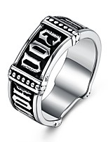 cheap -Men's Statement Rings , Metallic Hip-Hop Fashion Stainless Steel , Jewelry Bar Festival