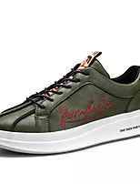 cheap -Men's Shoes PU Spring Fall Light Soles Sneakers for Casual White Black Dark Green