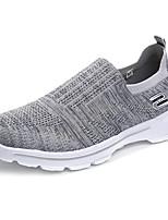 Недорогие -Муж. обувь Тюль Весна Осень Удобная обувь Кеды для Повседневные Черный Светло-серый Тёмно-синий