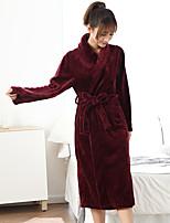 abordables -Style frais Peignoir, Couleur Pleine Qualité supérieure 100 % Polyester 100 % Polyester Serviette