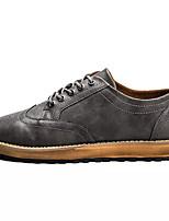 Недорогие -Муж. обувь Искусственное волокно Весна Осень Удобная обувь Кеды для Повседневные Черный Серый Коричневый