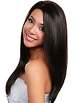 cheap -Peruvian Human Hair Full Lace Straight Wig Very Fashionable Long Length Straight Wig For Woman