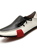 cheap -Men's Shoes Cowhide Spring Fall Moccasin Comfort Loafers & Slip-Ons for Casual Black/White Brown Gray