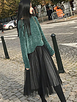 cheap -Women's Sweater - Solid Colored Skirt