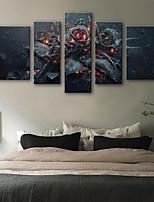 economico -Stampa trasferimenti su tela Rustico Modern,Cinque Pannelli Tela Verticale Stampa Decorazioni da parete Decorazioni per la casa