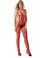 cheap -Women's Suits Nightwear,Straps Jacquard-Thin Nylon Spandex Red Black