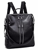 cheap -Women's Bags PU Backpack Zipper for Casual All Seasons Black