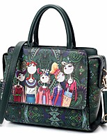 cheap -Women's Bags PU Tote Pattern / Print for Outdoor All Seasons Dark Green