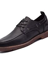 economico -Per uomo Scarpe Finta pelle Primavera Autunno Comoda Sneakers per Casual Nero Marrone