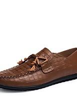 economico -Da uomo Scarpe Pelle Nappa Primavera Autunno Comoda Scarpe formali Scarpe da immersione Mocassini e Slip-Ons per Casual Nero Marrone
