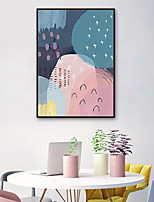 cheap -Abstract Illustration Wall Art,PVC Material With Frame For Home Decoration Frame Art Living Room Indoors