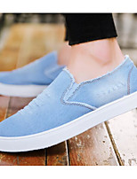 cheap -Men's Shoes Denim Spring Fall Comfort Loafers & Slip-Ons for Casual Light Blue Dark Blue