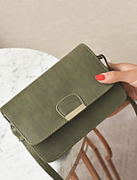 cheap -Women Bags PU Shoulder Bag Buttons for Casual All Season Brown Gray Blushing Pink Black Green