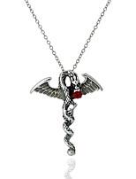 Недорогие -Муж. Жен. Дракон Классика европейский корейский Ожерелья с подвесками Синтетический рубин , Светящийся камень Сплав Ожерелья с подвесками