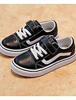 cheap -Boys' Shoes Real Leather Spring Fall Comfort Sneakers for Casual Black