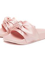 abordables -Fille Chaussures Soie Printemps Eté Confort Chaussons & Tongs pour Décontracté Noir Vert Véronèse Rose