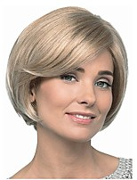 cheap -Women's Wigs Kanekalon Synthetic Hair Burgundy/Blonde Short Bob Hairstyle Natural Wigs Celebrity Wig