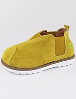 cheap -Girls' Boys' Shoes Leather Nubuck leather Spring Fall Comfort Loafers & Slip-Ons for Casual Gray Yellow Camel